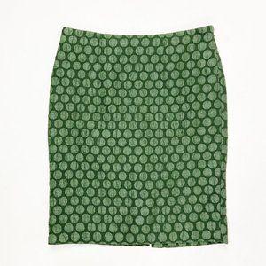 Anthropologie Skirts - Anthropologie Maeve Green Dot Goban Pencil Skirt
